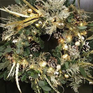 Gold All That Glitters Christmas Door Wreath